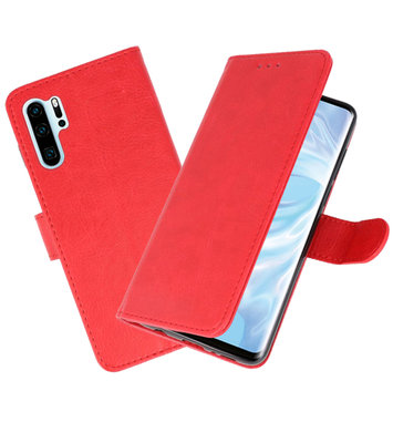 Bookstyle Wallet Cases Hoesje voor Huawei P30 Pro Rood
