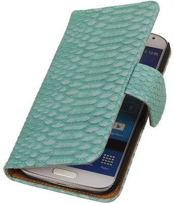 BC Slang Turquoise Hoesje voor Samsung Galaxy S Duos 3 Bookcase Cover
