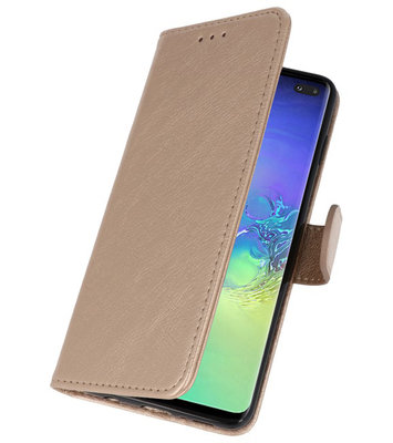 Bookstyle Wallet Cases Hoesje voor Samsung Galaxy S10 Plus Goud