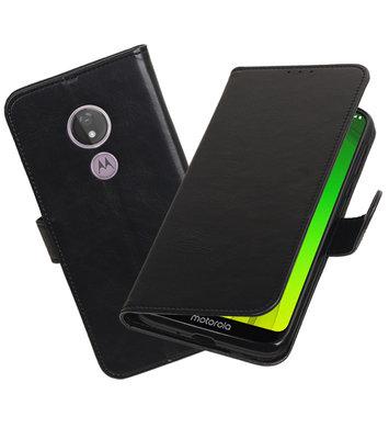 Motief Bookstyle Hoesje voor Motorola Moto G7 Power Zwart
