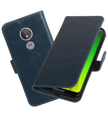Motief Bookstyle Hoesje voor Motorola Moto G7 Power Blauw
