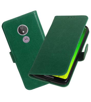 Motief Bookstyle Hoesje voor Motorola Moto G7 Power Groen