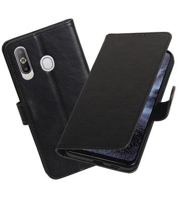 Motief Bookstyle Hoesje voor Samsung Galaxy A8s Zwart