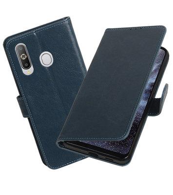 Motief Bookstyle Hoesje voor Samsung Galaxy A8s Blauw