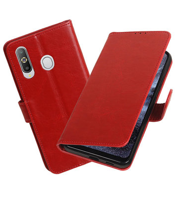 Motief Bookstyle Hoesje voor Samsung Galaxy A8s Rood