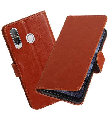 Motief Bookstyle Hoesje voor Samsung Galaxy A8s Bruin