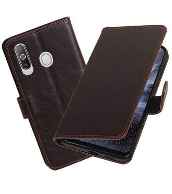 Motief Bookstyle Hoesje voor Samsung Galaxy A8s Mocca
