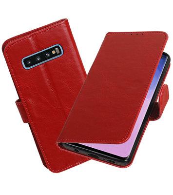 Motief Bookstyle Hoesje voor Samsung Galaxy S10 Rood