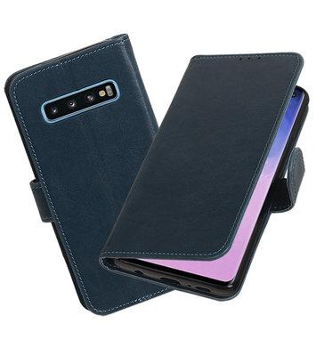 Motief Bookstyle Hoesje voor Samsung Galaxy S10 Blauw
