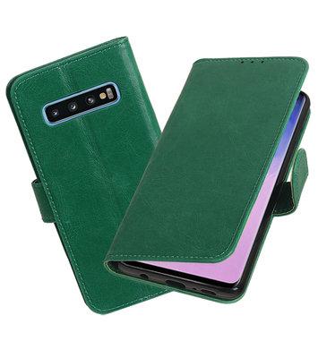 Motief Bookstyle Hoesje voor Samsung Galaxy S10 Groen
