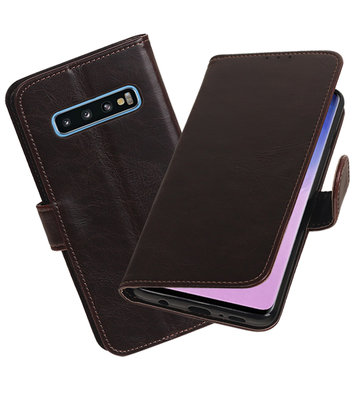 Motief Bookstyle Hoesje voor Samsung Galaxy S10 Mocca