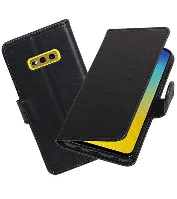 Motief Bookstyle Hoesje voor Samsung Galaxy S10e Zwart