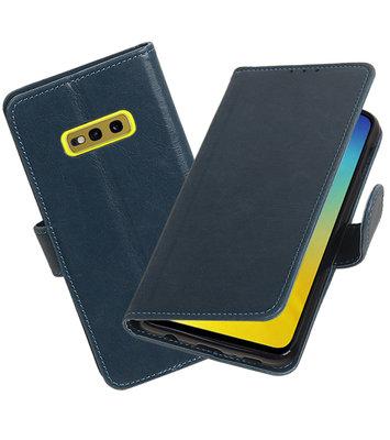 Motief Bookstyle Hoesje voor Samsung Galaxy S10e Blauw