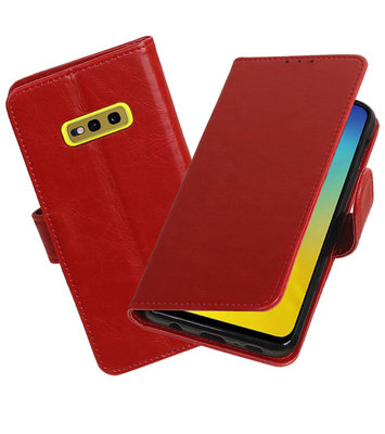 Motief Bookstyle Hoesje voor Samsung Galaxy S10e Rood