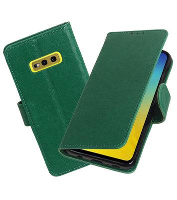 Motief Bookstyle Hoesje voor Samsung Galaxy S10e Groen