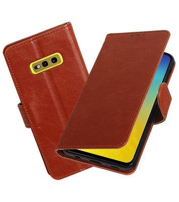 Motief Bookstyle Hoesje voor Samsung Galaxy S10e Bruin