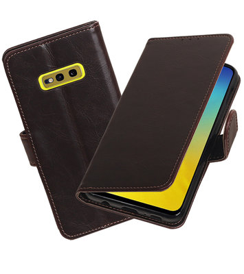 Motief Bookstyle Hoesje voor Samsung Galaxy S10e Mocca