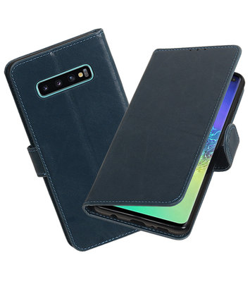 Motief Bookstyle Hoesje voor Samsung Galaxy S10 Plus Blauw