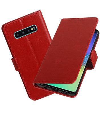 Motief Bookstyle Hoesje voor Samsung Galaxy S10 Plus Rood