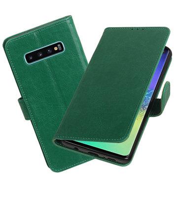 Motief Bookstyle Hoesje voor Samsung Galaxy S10 Plus Groen