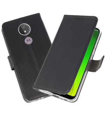 Booktype Wallet Cases Hoesje voor Motorola Moto G7 Power Zwart