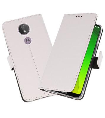 Booktype Wallet Cases Hoesje voor Motorola Moto G7 Power Wit