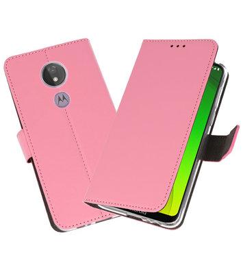 Booktype Wallet Cases Hoesje voor Motorola Moto G7 Power Roze