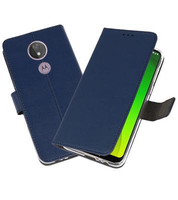 Booktype Wallet Cases Hoesje voor Motorola Moto G7 Power Navy