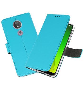 Booktype Wallet Cases Hoesje voor Motorola Moto G7 Power Blauw