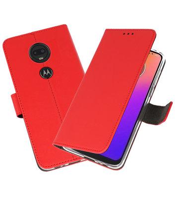 Booktype Wallet Cases Hoesje voor Motorola Moto G7 Rood
