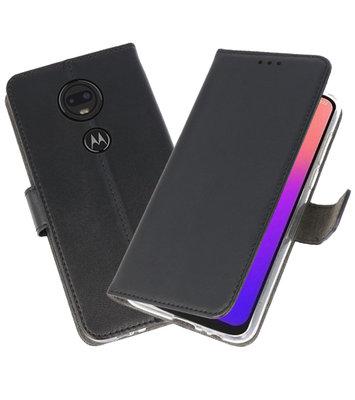Booktype Wallet Cases Hoesje voor Motorola Moto G7 Zwart