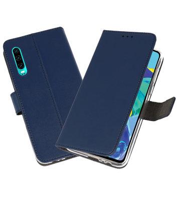 Booktype Wallet Cases Hoesje voor Huawei P30 Navy
