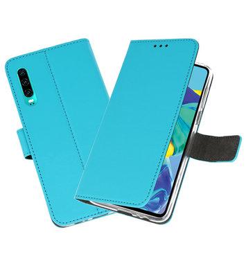 Booktype Wallet Cases Hoesje voor Huawei P30 Blauw