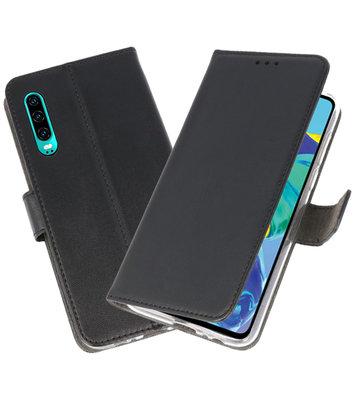 Booktype Wallet Cases Hoesje voor Huawei P30 Zwart
