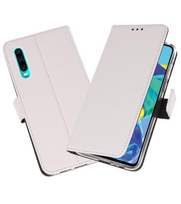 Booktype Wallet Cases Hoesje voor Huawei P30 Wit