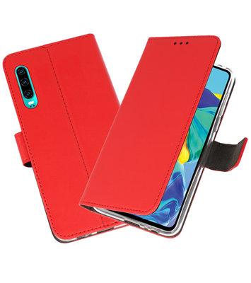Booktype Wallet Cases Hoesje voor Huawei P30 Rood