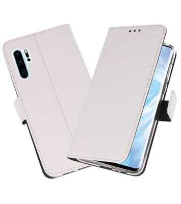 Booktype Wallet Cases Hoesje voor Huawei P30 Pro Wit