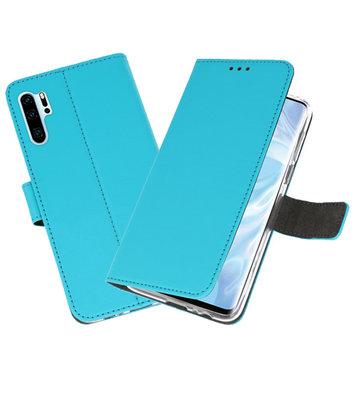 Booktype Wallet Cases Hoesje voor Huawei P30 Pro Blauw