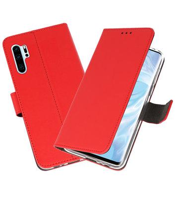 Booktype Wallet Cases Hoesje voor Huawei P30 Pro Rood