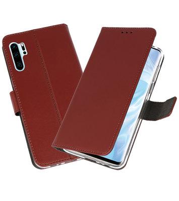 Booktype Wallet Cases Hoesje voor Huawei P30 Pro Bruin