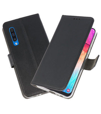 Booktype Wallet Cases Hoesje voor Samsung Galaxy A50 Zwart