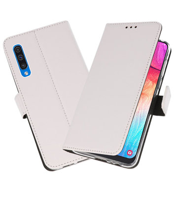 Booktype Wallet Cases Hoesje voor Samsung Galaxy A50 Wit