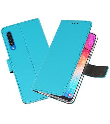Booktype Wallet Cases Hoesje voor Samsung Galaxy A50 Blauw