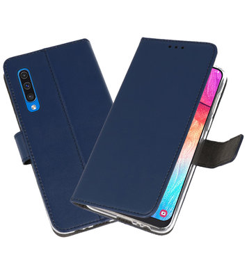 Booktype Wallet Cases Hoesje voor Samsung Galaxy A50 Navy