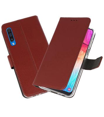 Booktype Wallet Cases Hoesje voor Samsung Galaxy A50 Bruin