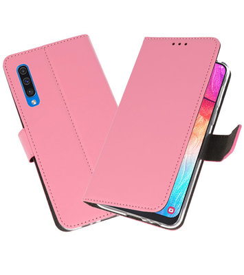 Booktype Wallet Cases Hoesje voor Samsung Galaxy A50 Roze