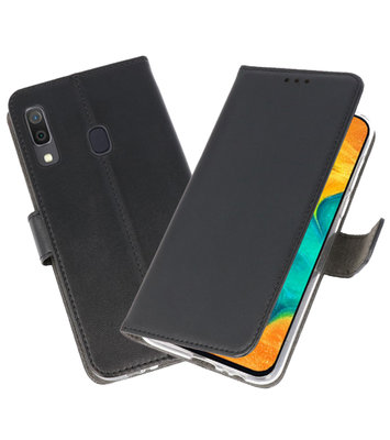 Booktype Wallet Cases Hoesje voor Samsung Galaxy A30 Zwart