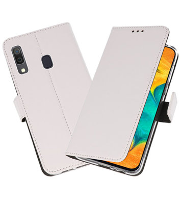 Booktype Wallet Cases Hoesje voor Samsung Galaxy A30 Wit
