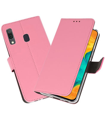 Booktype Wallet Cases Hoesje voor Samsung Galaxy A30 Roze