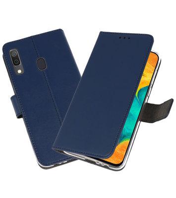 Booktype Wallet Cases Hoesje voor Samsung Galaxy A30 Navy